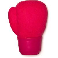 pink boxing glove shaped reusable bubble bar