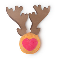 rudolph christmas é umas das bombas de banho exclusivas de natal com aroma a maçapão em formato de rena