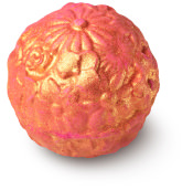 rose gold patterned bath bomb