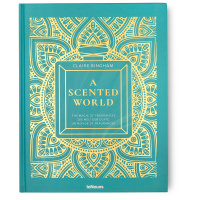 blue book cover with gold pattern
