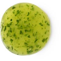 A cucumber shaped green eye mask