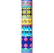 kaleidoscope patterned gift tube