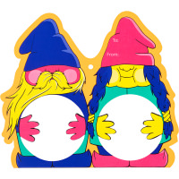 A gif of a gnome shaped mask