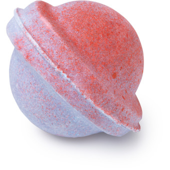 A blue and pink bath bomb