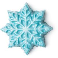 Let it snow é uma barra de massagem sem embalagem com brilhos em forma de floco de neve