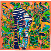 colourful abstract tiger themed knot wrap