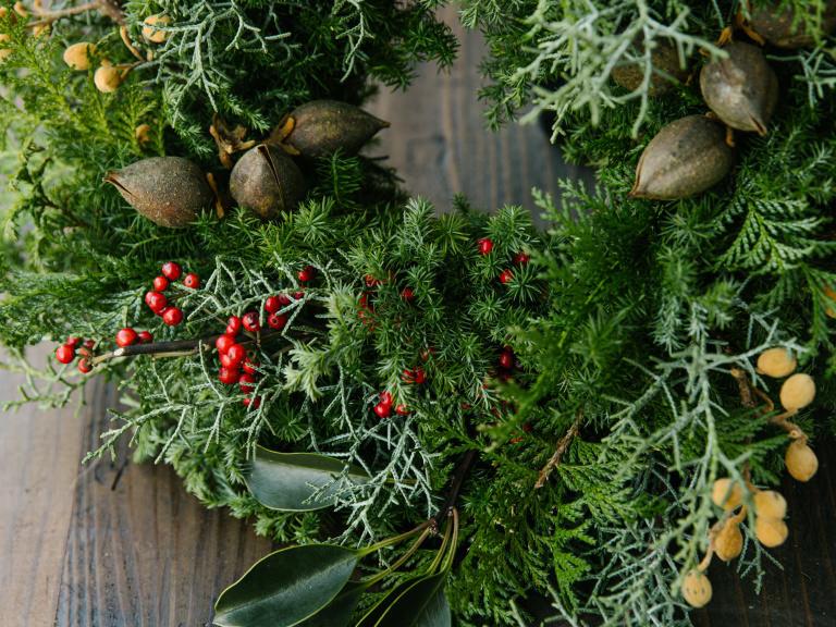 LUSH 新宿 オーガニックフラワー クリスマス リース スワッグ オーガニック 贈り物 プレゼント ラッシュ
