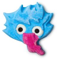 blauer goblin mit langer zunge
