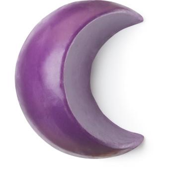 A purple moon shaped soap