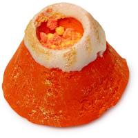 an orange volcano shaped bubble bar