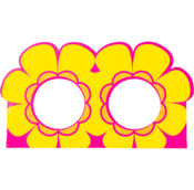 yellow and pink flower themed product holder