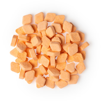 Pastilhas de elixir brave cor de laranja para quando precisas de um pouco de coragem ideiais para toda a familia