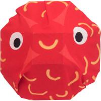 Confezione regalo con knot wrap a forma di pesce rosso
