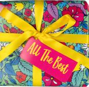 Caja de regalo all the best con lazo amarillo