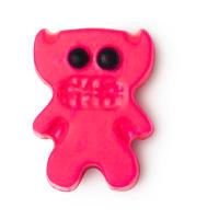moody bitch aceite de baño de color rosa en forma de demonio