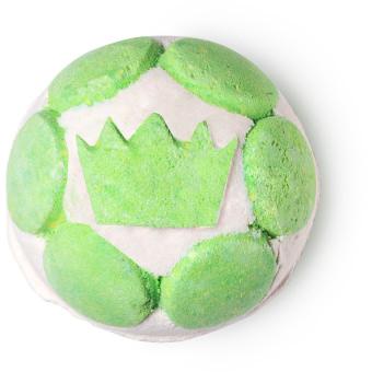 Bomba da bagno gelatinosa verde e bianca