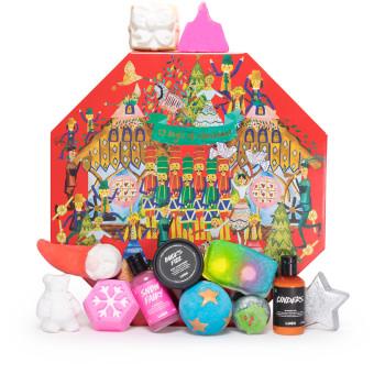 Confezione regalo di Natale 12 Day of Christmas (calendario dell'avvento) e il suo contenuto