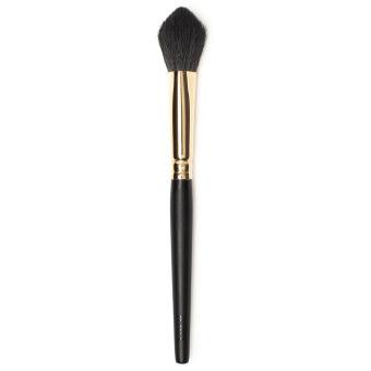 Kegelförmiger, spitz zulaufender Pinsel mit schwarzem Holzstiel und goldener Metallferrule