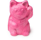 lucky cat bomba de baño en forma de gato de color rosa