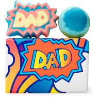 caja de regalo de colores con dos bombas de baño de lush