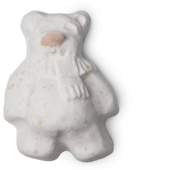 A white bear shaped bath bomb