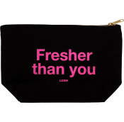 a black cosmetic pouch