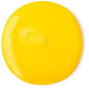 Um circulo amarelo do gel duche nana