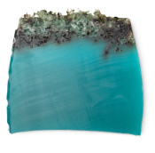 A block of the green blue sea vegetable soap