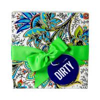 Caja de regalo Dirty con lazo verde con productos mentolados de la gama Dirty