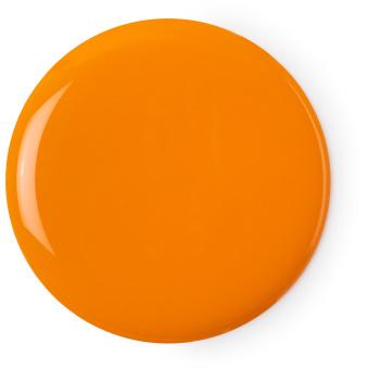 Groovy kind of love é um dos geis de duche da Lush cor de laranja com bergamota e sumo de laranja