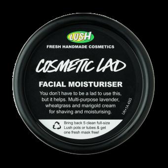 Vista dall'alto della confezione di Crema viso idratante per uomo Cosmetic Lad (One Man One Cream)