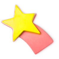 pink soap shaped like a shooting star