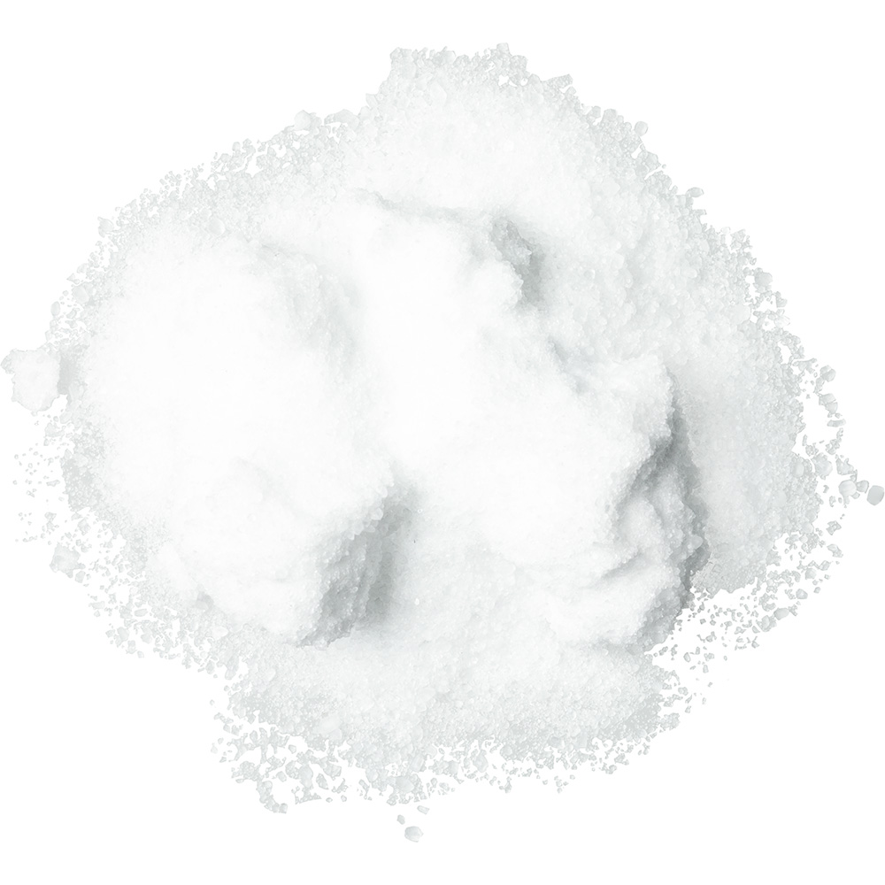 Sal de epsom de color blanco que aporta volumen al cabello y alivia el dolor muscular