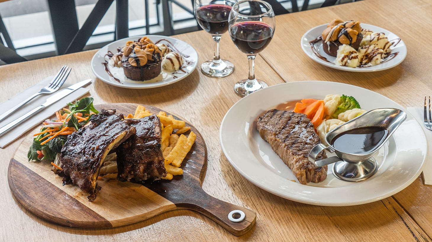 Scrumptious Two-Course Dinner with Wine Al Forno Cafe Bar and Grill Port Melbourne