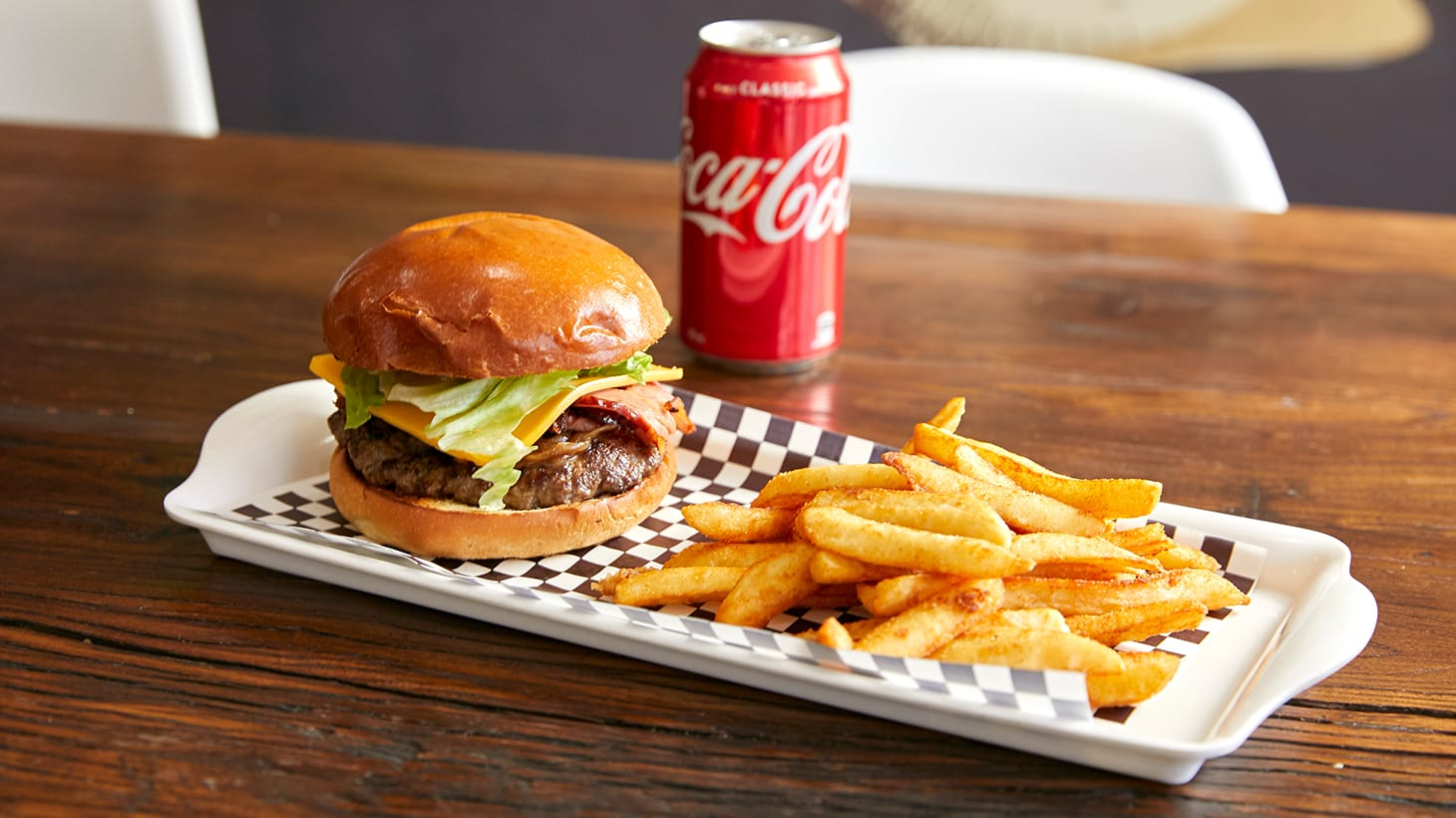 Tuck Into a Gourmet Burger, Chips and Drink Combo - My Burger Room