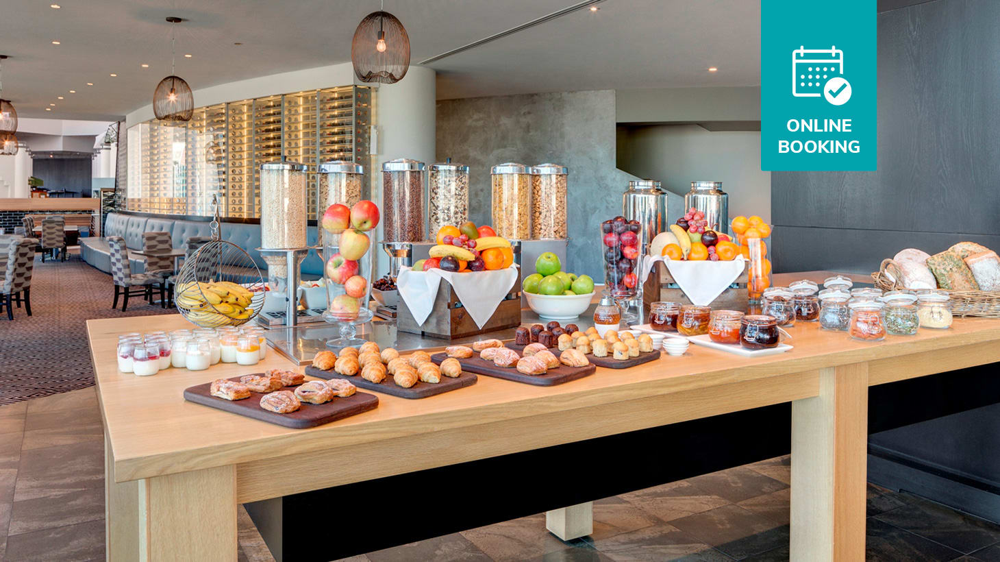 Start Your Day with an All-You-Can-Eat Hotel Buffet Breakfast & Drinks on Scarborough Beach! Straits Cafe at Rendezvous Hotel Scarborough Scarborough