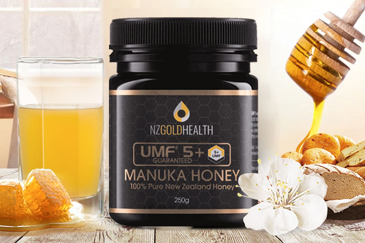 250g of 100% NZ Made Manuka Honey UMF 5+, Delivered - NZ Gold Health Limited