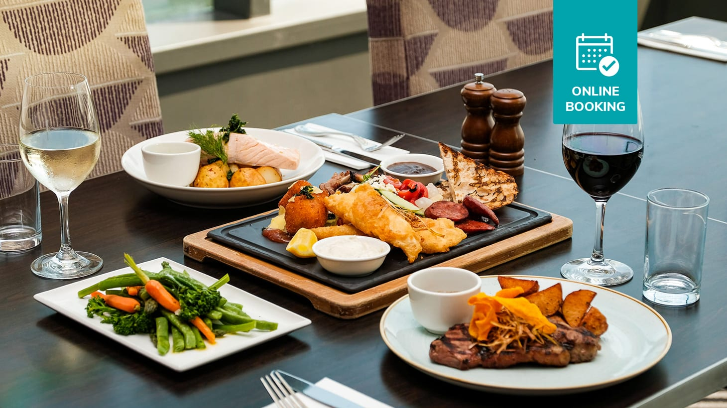 Two-Course Lunch or Dinner with Wine & Stunning Views of Scarborough Beach from $89! Straits Cafe at Rendezvous Hotel Scarborough Scarborough