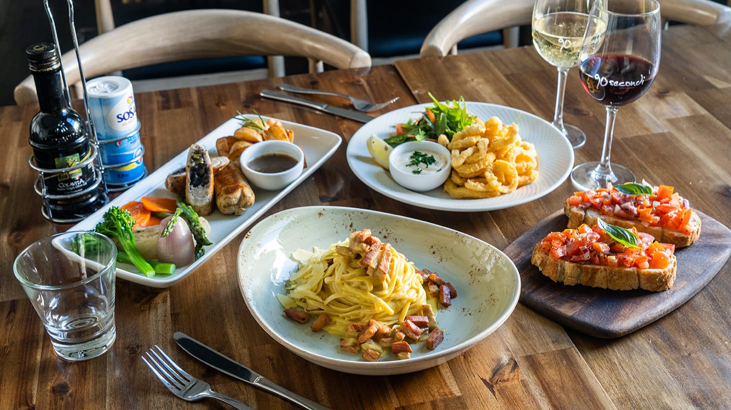 Two Courses with Wine at Award-Winning Italian Restaurant 90 Secondi Brighton Brighton
