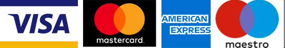 Available payment methods are visa, mastercard, american express, maestro