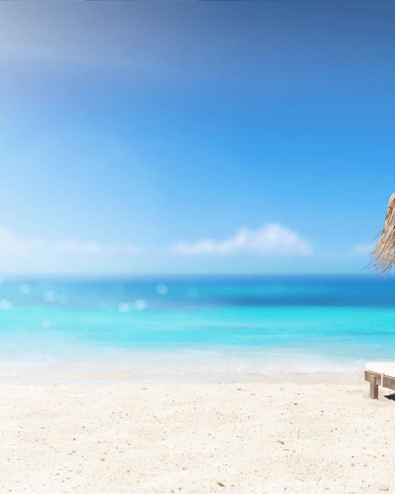 Gazebo on paradisiac beach
