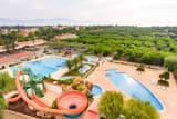 The aquatic park of the Camping L'Amfora campsite (Sant Pere Pescador)