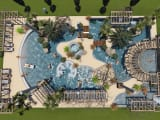 The covered Water Park of campsite Aluna Vacances