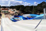 A new 35-metre long water slide at the L'Oasis Village campsite