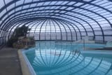 The new indoor heated swimming pool of the Emeraude campsite