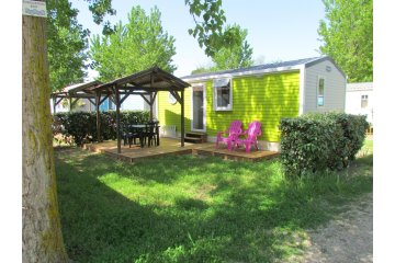 Mobile home CAYO COCO Supérieur about 27m² 2 rooms + terrace with pergola - Californie Plage