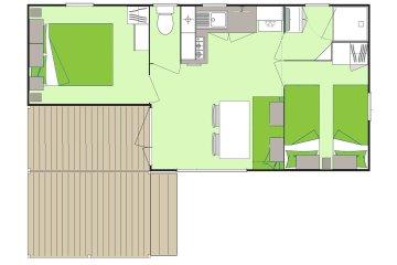Cottage *** (2 rooms) - La Plage
