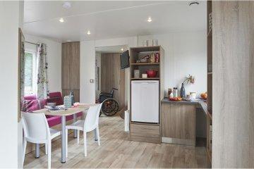 Ciela Confort PMR - 34m² - 2 chambres - climatisation réversible et TV - La Farigoulette