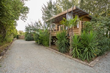 Mobile home LODGE KABANE, wooden terrace with awning, air conditioning, TV, 1 car (2 rooms) - Ecolodge L'Etoile d'Argens