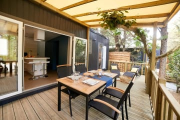 Mobile home KOSY 6, wooden terrace with awning, air conditioning, TV, 120 m² plot, 1 car (3 rooms ... - Ecolodge L'Etoile d'Argens
